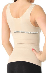 Dbl-V Neck tank with built-in bra with underwire