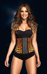 Latex Waist Cincher Animal Print