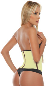 Yellow Sport Latex Waist Cincher w/ 3-Hooks