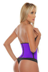 Purple Sport Latex Waist Cincher w/ 3-Hooks