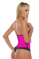 Pink Sport Latex Waist Cincher w/ 3-Hooks