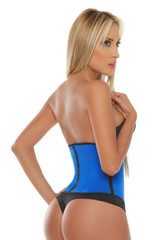 Blue Sport Latex Waist Cincher w/ 3-Hooks