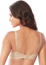 Embroidered Embellished Keyhole Minimizer Bra