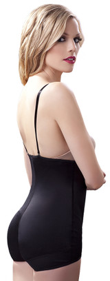 Strapless bodysuit w/ front hook-and-eye closure
