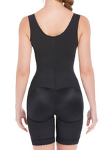 EXTRA-STRENGTH COMPRESSION WIDE STRAPS MID-THIGH BODYSUIT SLIMMING SHAPER WITH LATEX