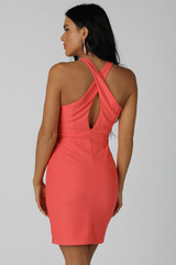 Cross Back Halter Dress