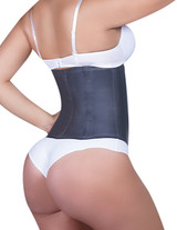 Classic Latex Waist Cincher Lined in Black Cotton