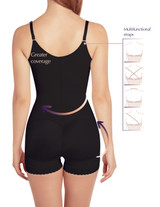 Slimming Braless Body Shaper Briefs with latex