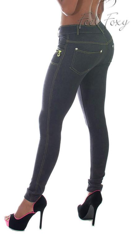 Skinny Leg Jeggings Navy w/zipper