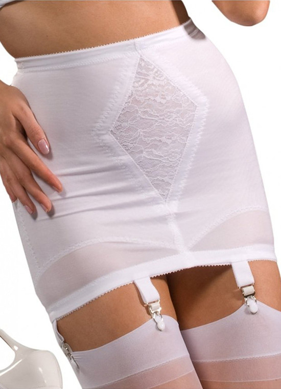 Medium Shaping Open Bottom Girdle with Six Garters