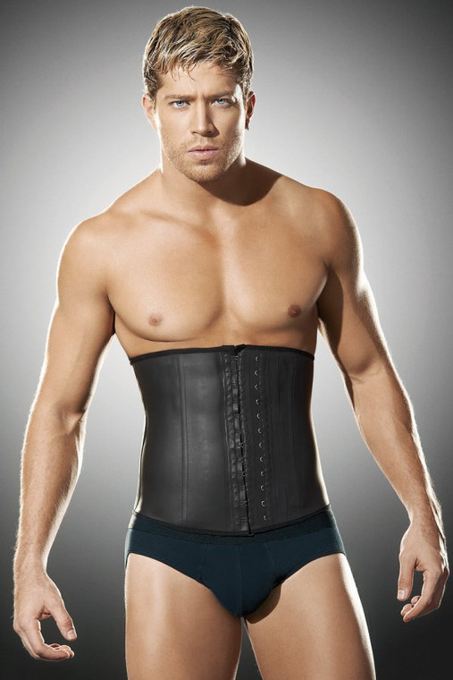 Mens Latex Waist Cincher