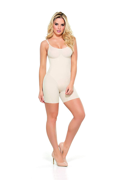 Mid-Thigh Pre-Shaped Control Bodysuit
