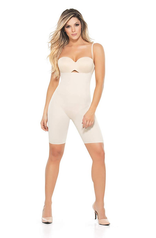 MID-THIGH STRAPLESS CONTROL BODYSUIT
