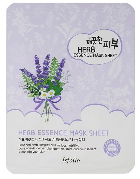 Esfolio Herb Essence Mask Sheet Pack of 10