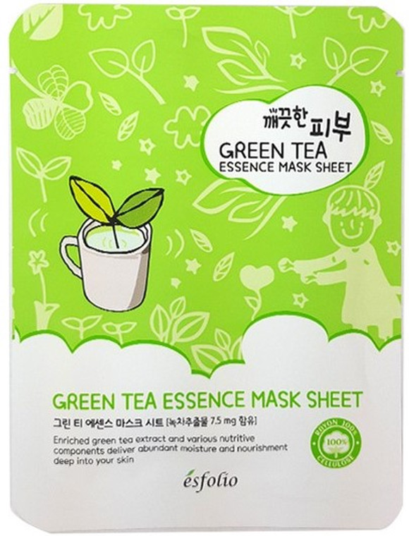 Esfolio Green Tea Essence Mask Sheet Pack of 10