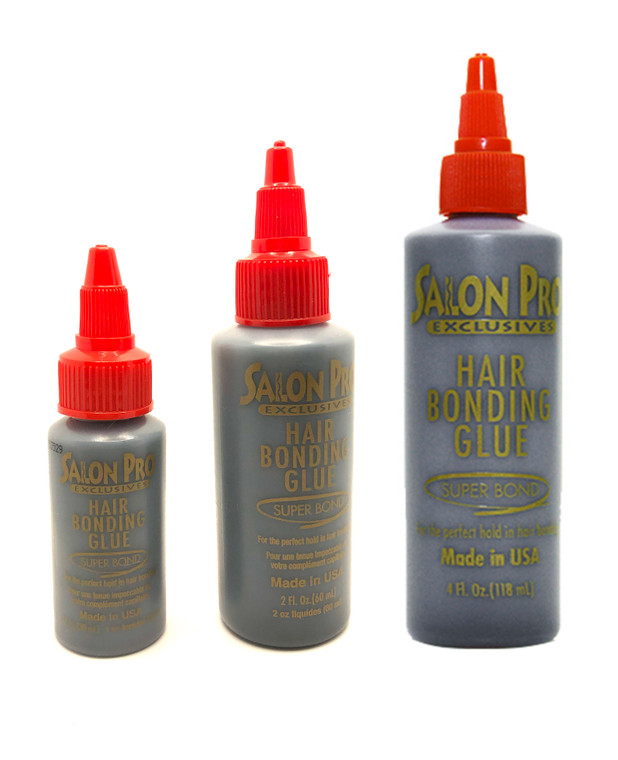 Salon Pro Anti-Fungus Hair Bonding Glue Black 1oz/2oz/4oz