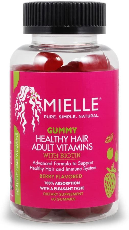 Mielle Healthy Hair Adult Gummy Vitamins 60 Count