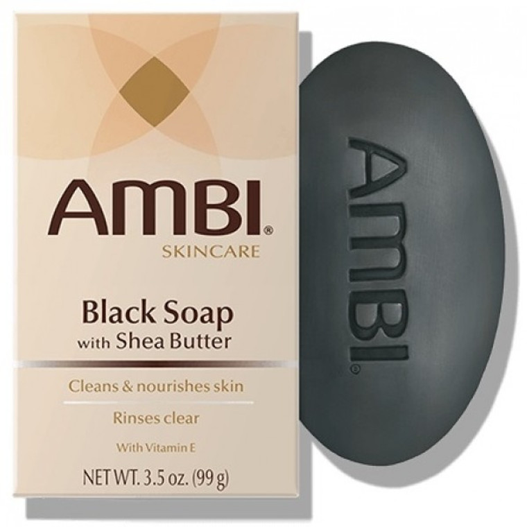 AMBI® Black Soap Bar with Shea Butter