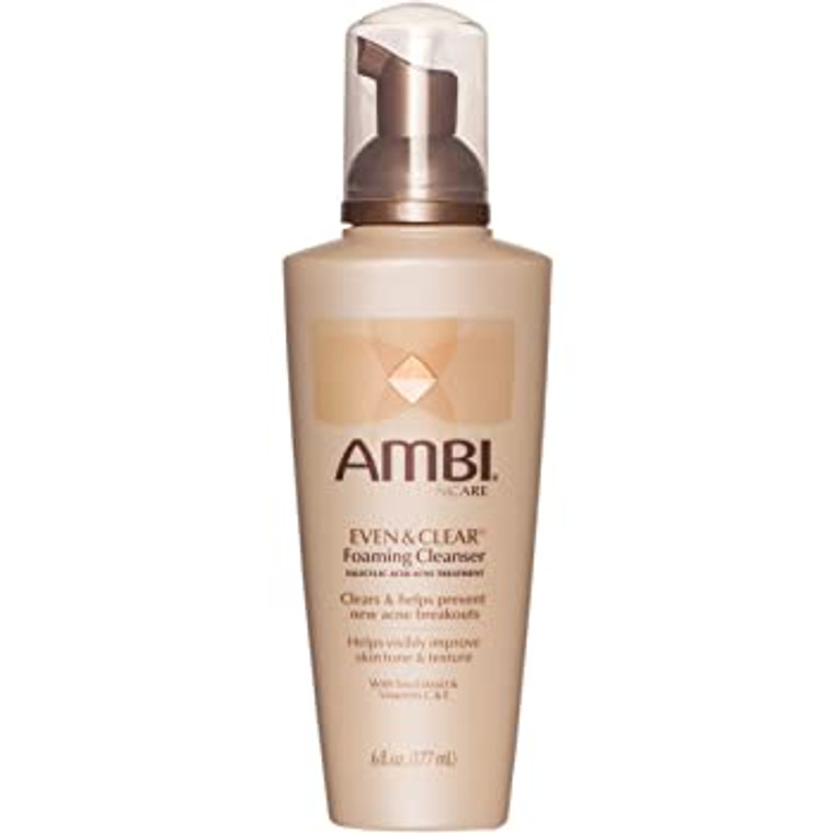 AMBI® Even & Clear® Foaming Cleanser 6oz