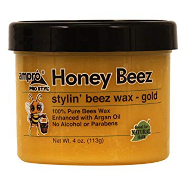 HONEY BEEZ STYLING WAX Gold/Black 4oz