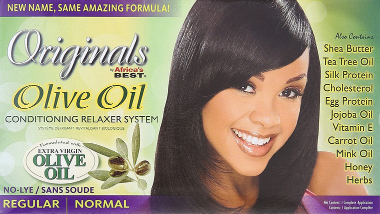 Africa's Best Organic Olive Oil Conditioning Relaxer Kit Regular
