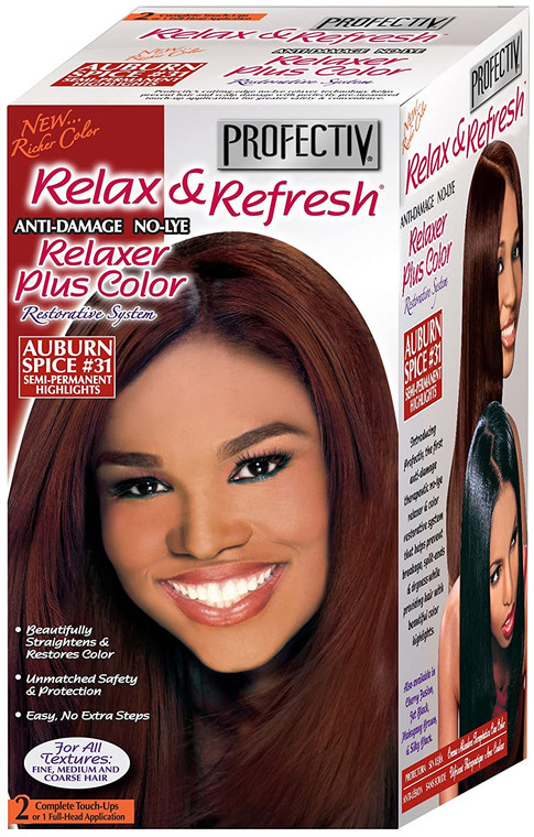 Profectiv Relaxer Clear Auburn Kit