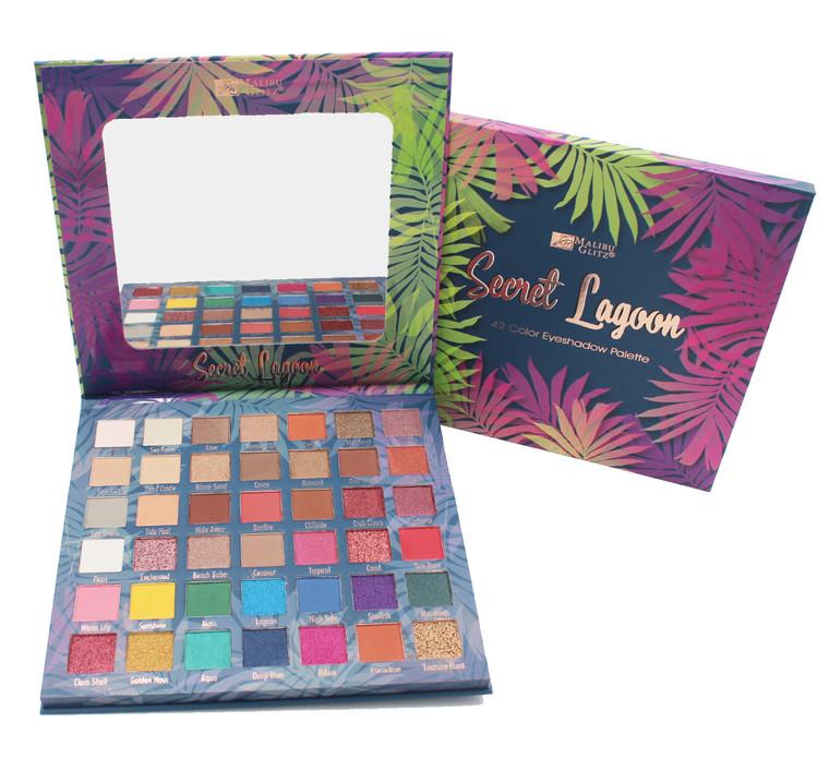 Malibu Glitz Secret Lagoon 42 Color Eyeshadow Palette