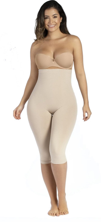 HIGH WAIST SHAPING CAPRI W/ VITAMIN E
