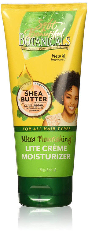 Soft and Beautiful Botanicals Ultra Nourishing Lite Creme Moisturizer 6 oz