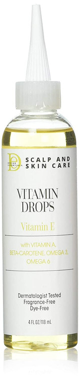 Design Essentials Scalp & Skin Vitamin Drops with Vitamin E Hair Oil, 4oz