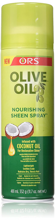 Olive Oil Ors Nourishing Sheen Spray Coconut, 11.7 oz
