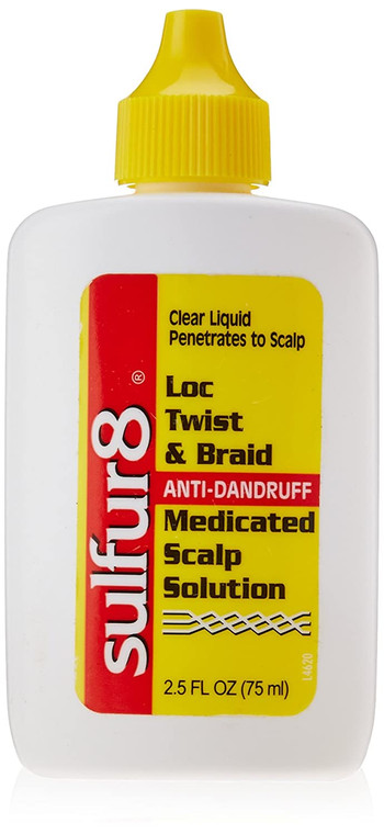 Sulfur 8 Loc Twist and Braid Medicated Scalp Solution, 2.5 Ounce