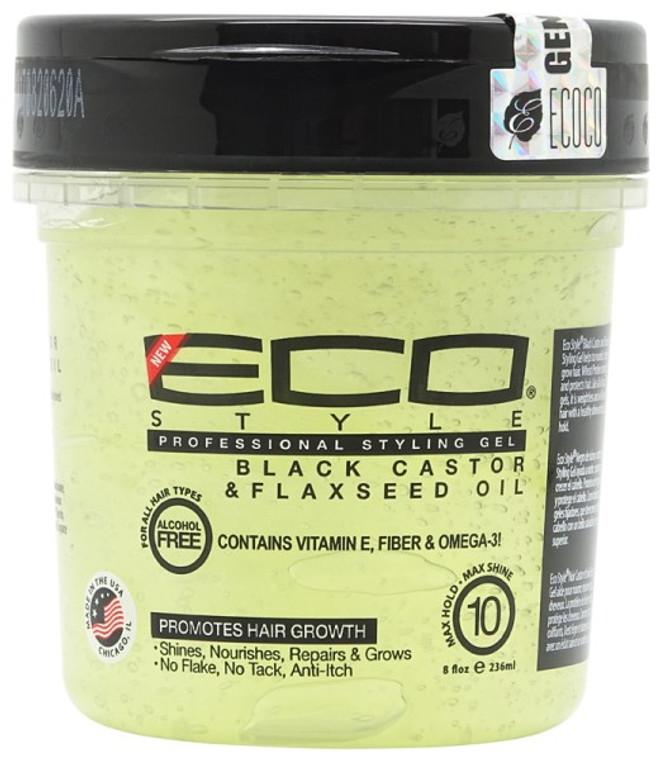 Eco Style Gel Black Castor & Flaxseed Oil 8 oz | 16 oz | 32 oz
