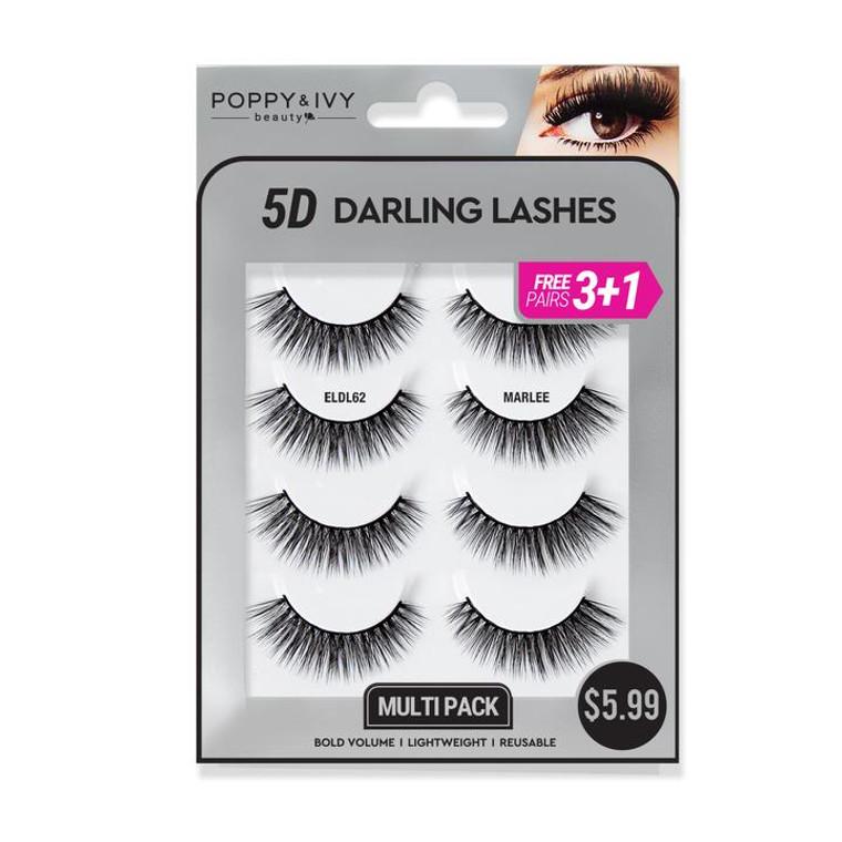 5D DARLING LASHES - Marlee  4 PAIRS