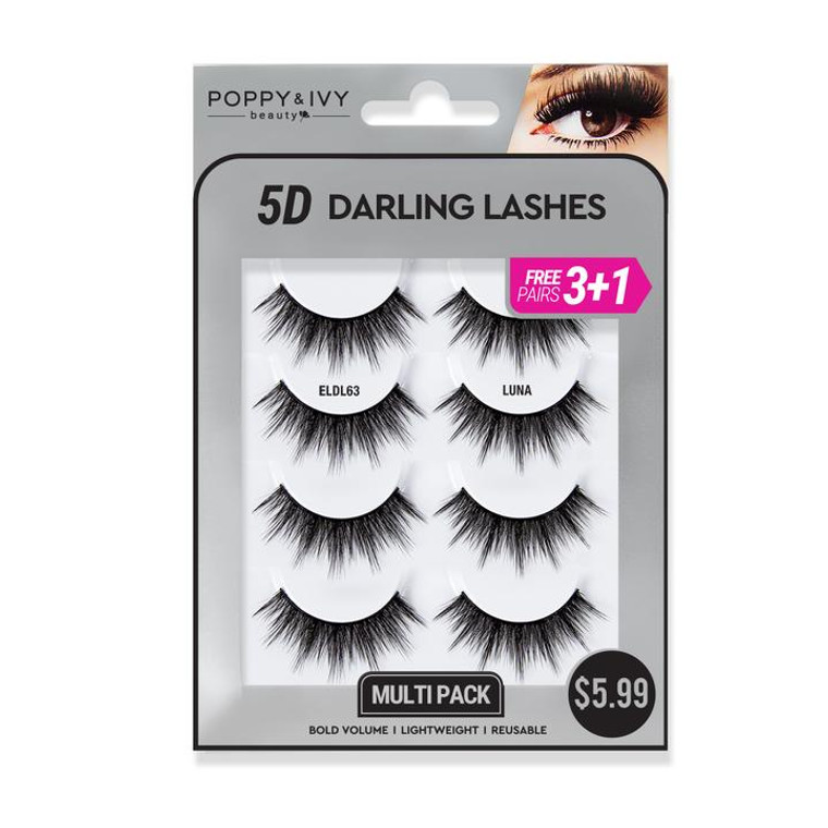 5D DARLING LASHES - Luna  4 PAIRS