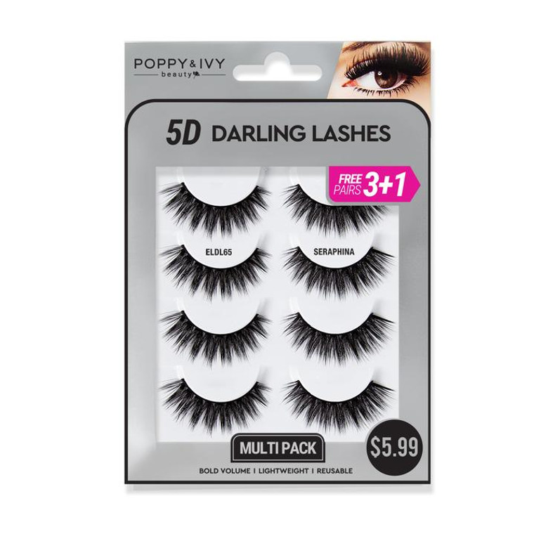 5D DARLING LASHES - Seraphina  4 PAIRS
