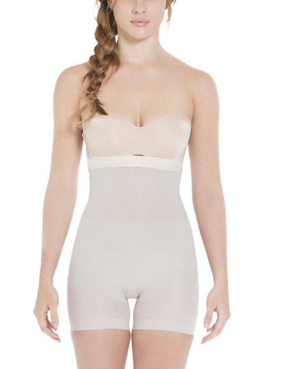 Bra Less Silicone-Lined Mid-Thigh Slimmer Briefs