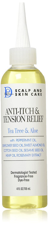 Design Essentials Scalp & Skin Care Anti-itch & Tension Relief, Tea Tree & Aloe 4 Fl Oz