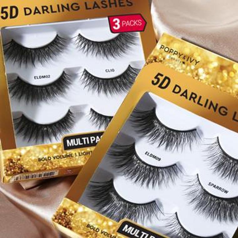 5D DARLING LASHES - 3 PAIRS