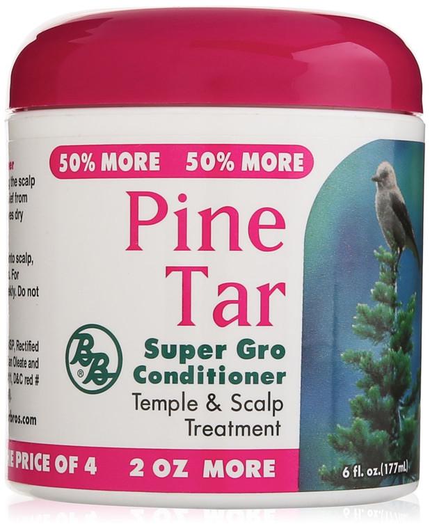 Pine Tar Super Gro Hair and Scalp Bonus, 6 Oz