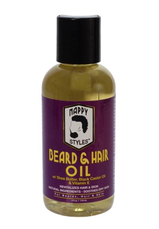 Nappy Styles Beard & Hair Oil 4 oz