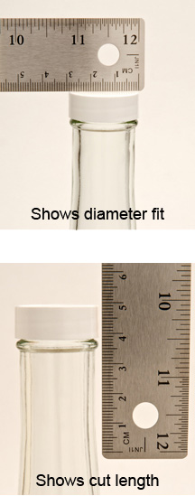 measuring shrink bands for bottles and containers