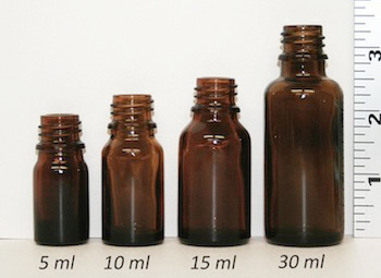 bottle size comparison in milliliters