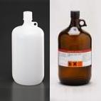 4 Liter amber glass bottle or plastic Nalgene bottle