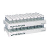 WHEATON® 50 Position PP Vials Rack, 28.1mm Open ID, case/5