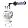 EZWaste System, 10L Bottle, 83B VersaCap, 6 Ports (1/8 OD) Carbon Filter