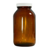 Certified Clean 2.5L Amber Glass Jar, case/12