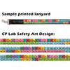 Top: Sample printed lanyard with custom logo  Bottom: Custom Periodic Table of Elements Art Design © CP Lab Safety 2018