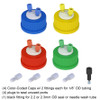 Color Coded HPLC Solvent Delivery Cap, GL-45, 4-pack