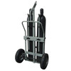 """Double Cylinder Hand Truck with Hoist Ring, 16"""" Pneumatic Wheels"""